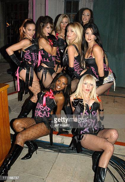 Pussycat Dolls during The Official Launch Party For Spike TV At The Playboy Mansion Inside at The Playboy Mansion in Bel Air California United States