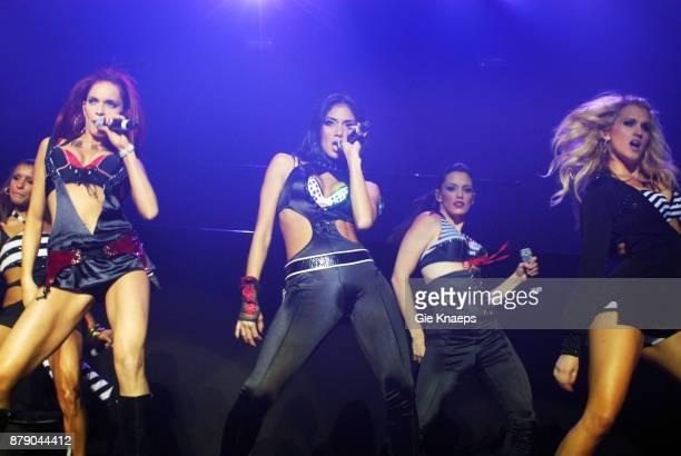 Pussycat Dolls Nicole Scherzinger Kaya Jones performing on stage Vorst Nationaal Brussel Belgium 29th November 2006