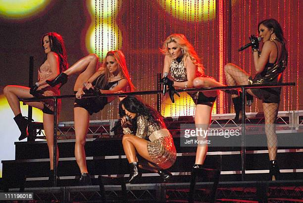 Pussycat Dolls perform Buttons during 2006 American Music Awards Show at Shrine Auditorium in Los Angeles CA United States