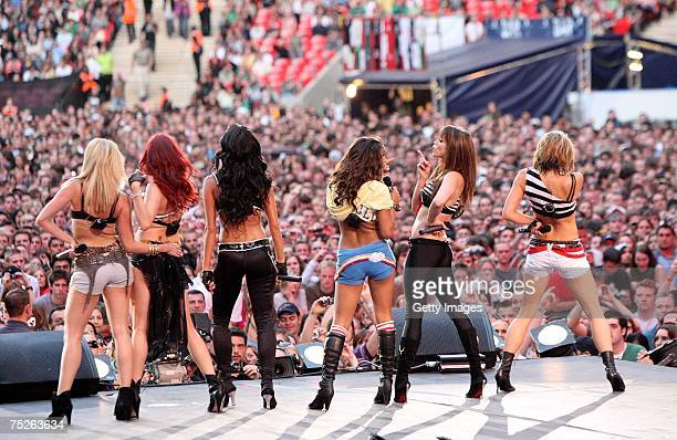 Pussycat Dolls perform on stage during the Live Earth concert at Wembley Stadium on July 7 2007 in London England Live Earth is a 24hour 7continent...
