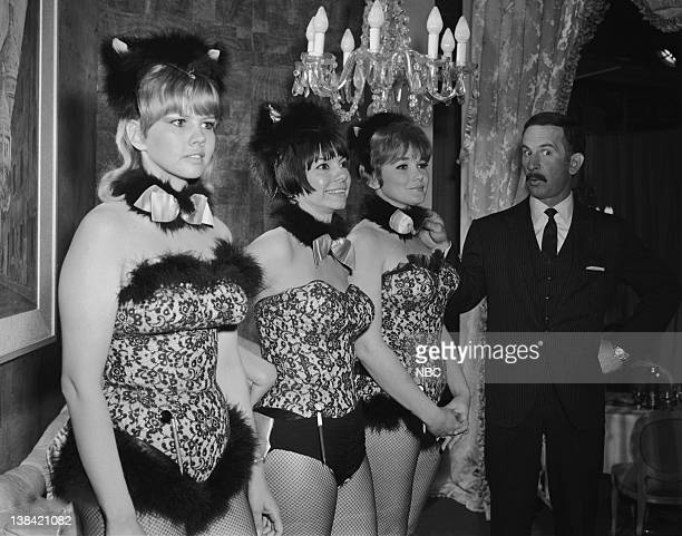 GET SMART 'Pussycats Galore' Episode 27 Aired 04/01/67 Pictured Angelique Pettyjohn as Charlie Watkins Colette Perissi as Pussycat Mondey Armon as...