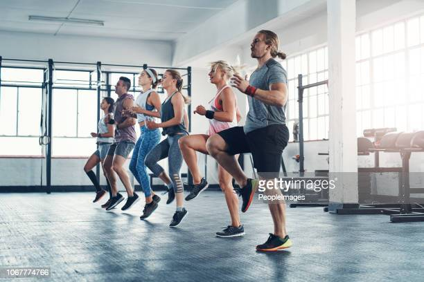 put in the work and you'll see the results - circuit training stock photos and pictures