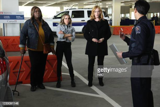 """Put It All On Two"""" Episode 411 -- Pictured: Retta as Ruby Hill, Mae Whitman as Annie Marks, Christina Hendricks as Beth Boland --"""