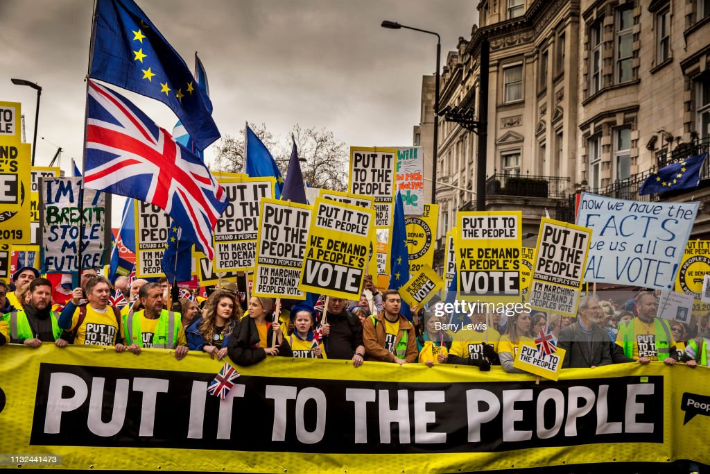Put It To The People March For A Peoples Vote : News Photo