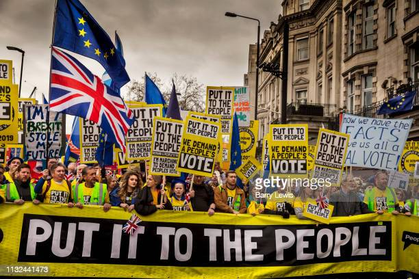Put It To The People march for a Peoples Vote on 23rd March 2019 in London United Kingdom With less than one week until the UK is supposed to be...