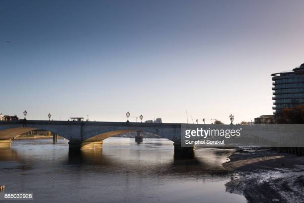 Putney bridge during the clear morning