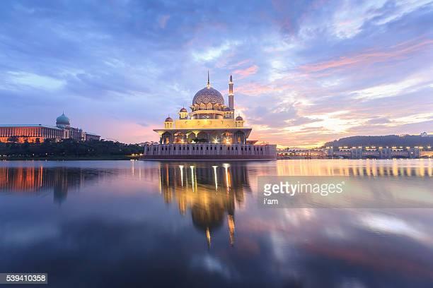 Putra Mosque and Perdana Putra in Putrajaya at morning
