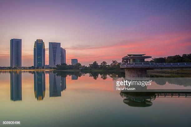 Putrajaya Dam during sunset