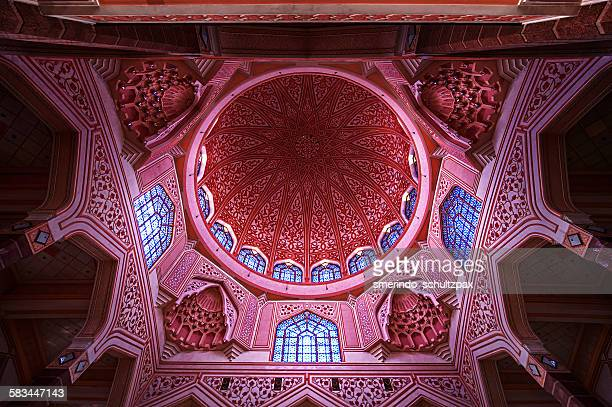 putrajaya masjid putra dome - islamabad stock pictures, royalty-free photos & images
