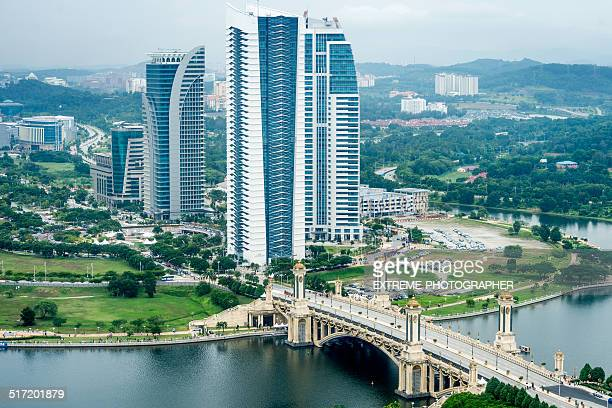 putrajaya skyscrapers - putrajaya stock photos and pictures