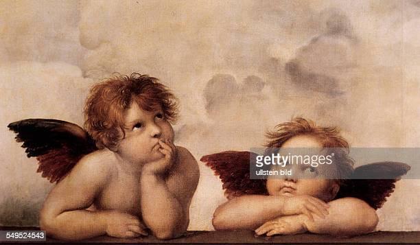 2 Putten Engel aus einem Gemälde von Raffael