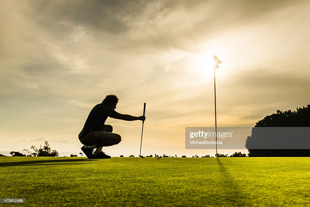 Putter Aiming : Stock Photo
