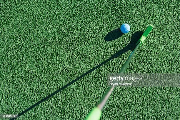 Putter and golf ball