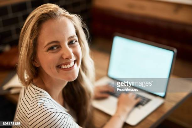 putting in an a+ effort - one young woman only stock pictures, royalty-free photos & images