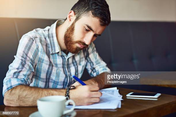 putting in the work - form filling stock photos and pictures