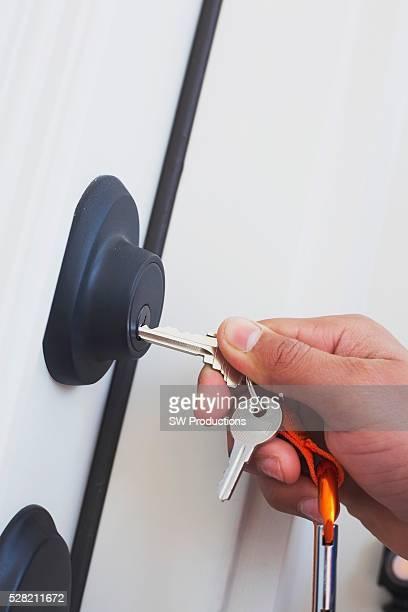 Putting Keys Into A Lock