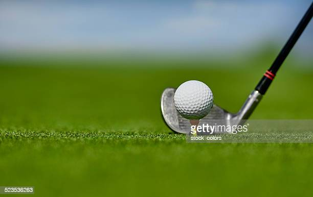 putting the drive in the ball - driving range stock photos and pictures
