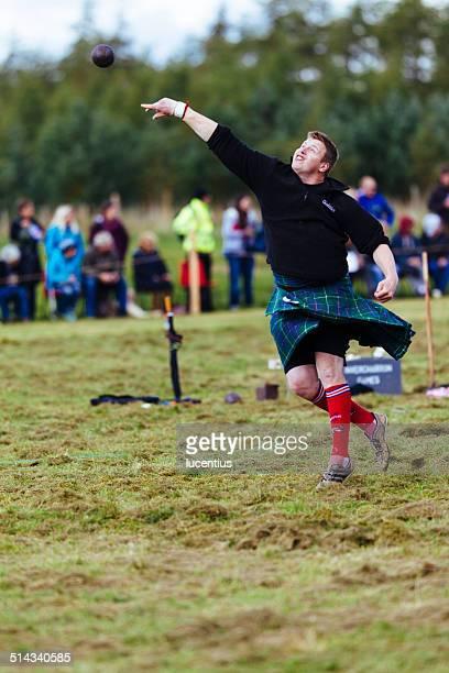 Putting the shot, Highland Games, Scotland