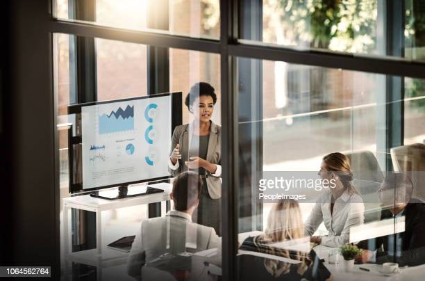 putting the state of business into perspective - presentation stock pictures, royalty-free photos & images