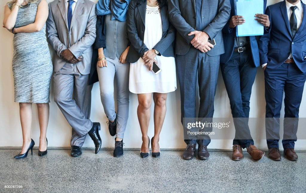 Putting their best foot forward : Stock Photo