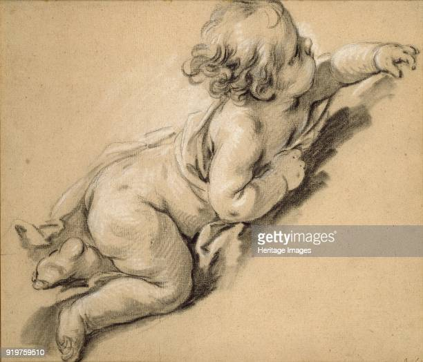 A putto reclining to right mid 18th century Artist Francois Boucher