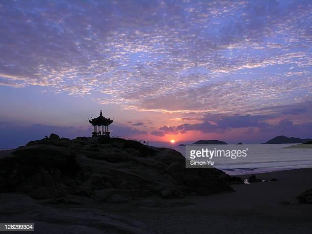 Putuo Mountain at sunrise