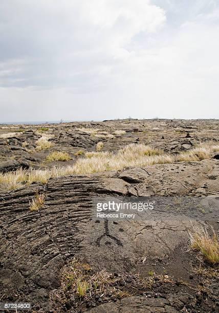 pu'uloa petroglyph hawai'i volcanoes national park - emery stock photos and pictures