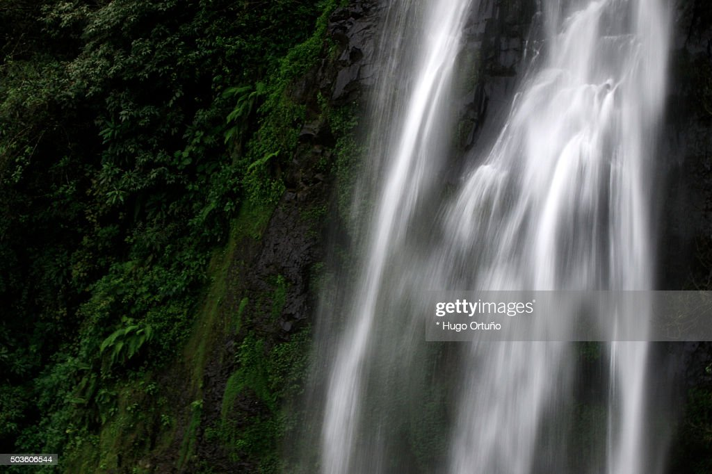 Puxtla's waterfall over eighty metres high in Tlatlauquitepec - Mexico : Stock Photo