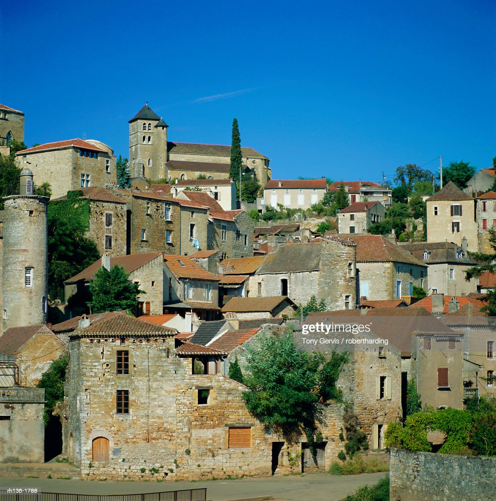 Puy L-Eveque on River Lot, Midi Pyrenees, France, Europe : Foto de stock