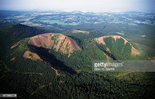 PuydeLassolas and Puydela Vache old effusive volcanoes Chain of Puys Auvergne France