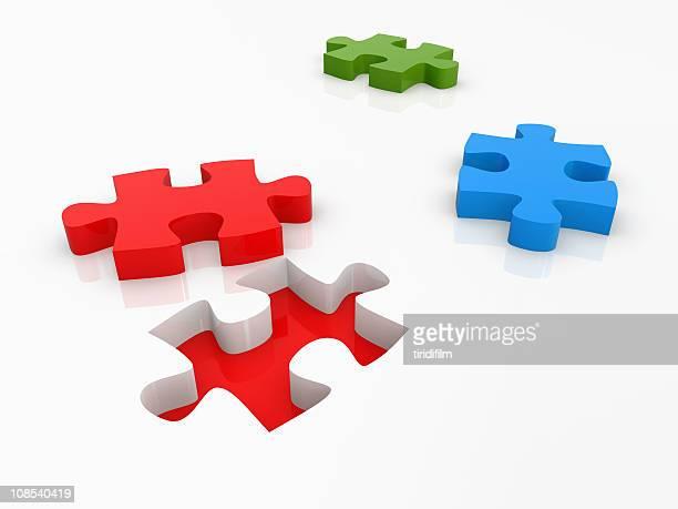 Puzzle concepto de