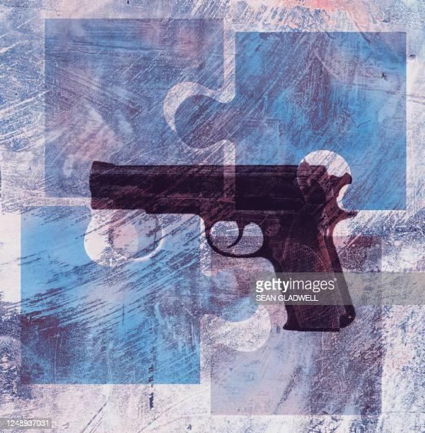 puzzle gun - gun control stock pictures, royalty-free photos & images