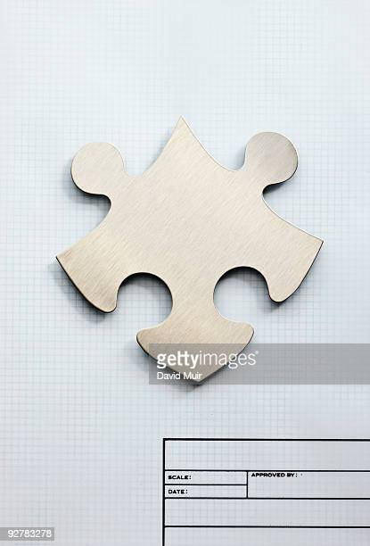 puzzle piece on graph paper