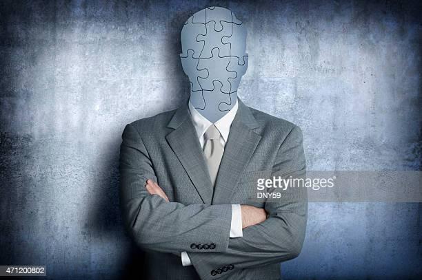 Puzzle remplace le visage Homme d'affaires