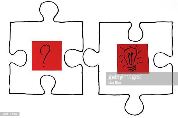 Puzzle de Solution montrant demander et Concept