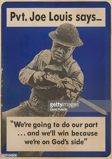 Pvt Joe Louis Says Poster