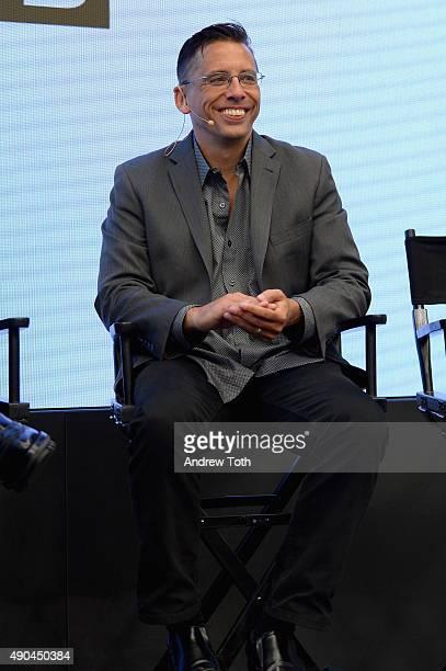 """PwC Digital Principal John Swadener speaks onstage at the """"Wired Royal Rumble: Creativity vs Data"""" presented by panel during Advertising Week 2015..."""
