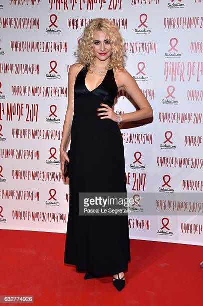 Pxie Lott attends the Sidaction Gala Dinner 2017 Haute Couture Spring Summer 2017 show as part of Paris Fashion Week on January 26 2017 in Paris...