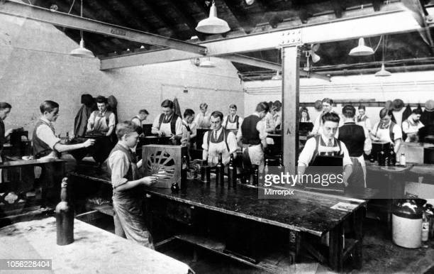 Pye Works, polishing shop, Cambridge, Cambridgeshire. Circa 1929.