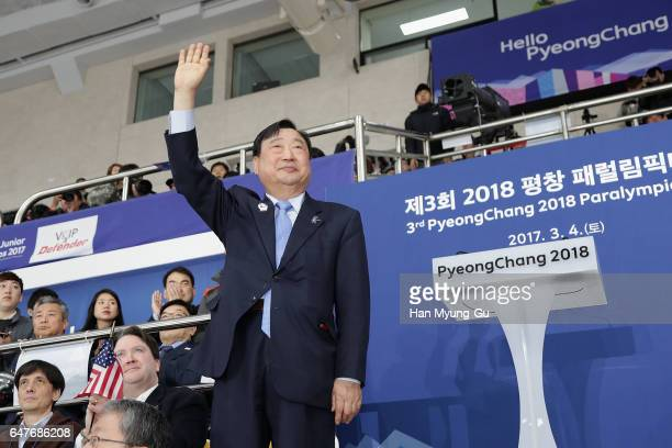 PyeongChang 2018 Organising Committee President Lee HeeBeom attends during the PyeongChang 2018 Paralympic Day and Opening of the World Wheelchair...