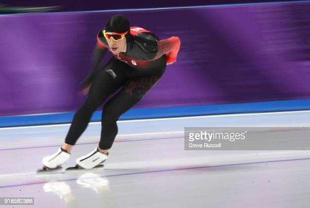 GANGNEUNG Pyeongchang FEBRUARY 15 Jordan Belchos of Canada finished 5th in the men's 10000 metres in the PyeongChang 2018 Winter Olympics at the...