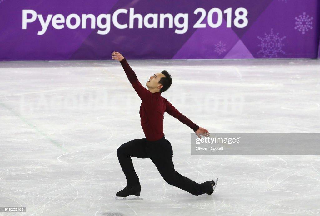 GANGNEUNG, Pyeongchang- FEBRUARY 17 - Patrick Chan of Canada skates in the mens free figure skating program in the PyeongChang 2018 Winter Olympics at the Gangneung Oval in Gangneung in Pyeongchang in South Korea. February 17, 2018.