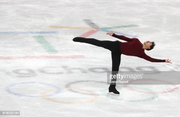 GANGNEUNG Pyeongchang FEBRUARY 17 Patrick Chan of Canada skates in the mens free figure skating program in the PyeongChang 2018 Winter Olympics at...