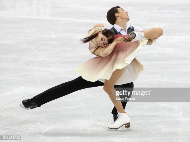 GANGNEUNG Pyeongchang FEBRUARY 19 Ekaterina Bobrova and Dmitri Soloviev of Olympic Athlete from Russia in the ice dance free program in the...