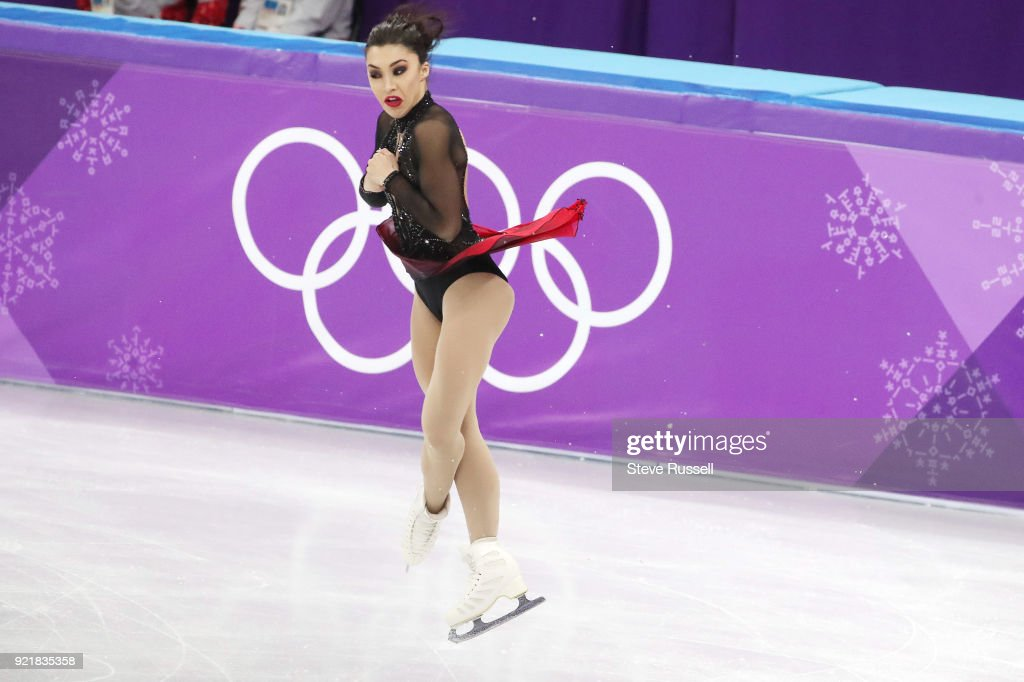 GANGNEUNG, Pyeongchang- FEBRUARY 20 - Gabrielle Aleman of Canada in the ladies' short program in PyeongChang 2018 Winter Olympics Figure Skating at the Gangneung Ice Arena at the 2018 Pyeongchang Winter Olympics in Gangneung in Pyeongchang in South Korea. February 20, 2018.