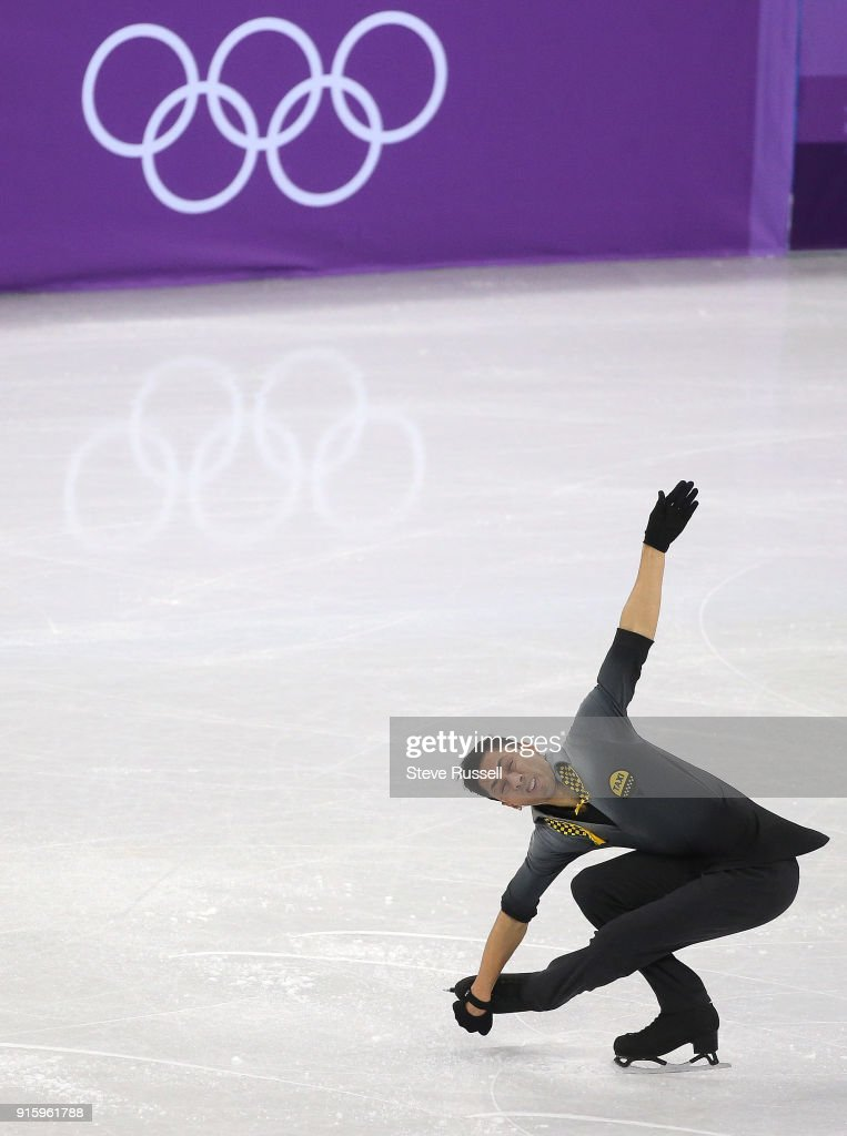 GANGNEUNG, Pyeongchang- FEBRUARY 8 - in the Men's single skating program in PyeongChang 2018 Winter Olympics Figure Skating team event at the Gangneung Ice Arena at the 2018 Pyeongchang Winter Olympics in Gangneung in Pyeongchang in South Korea. February 8, 2018.