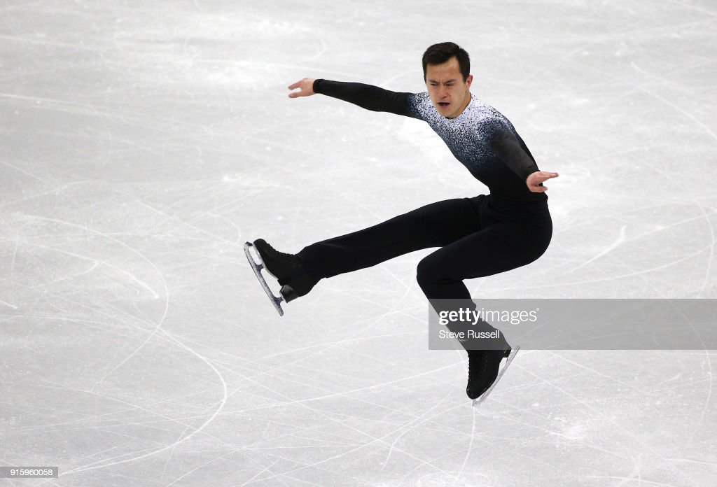 GANGNEUNG, Pyeongchang- FEBRUARY 8 - Patrick Chan of Canada in the Men's single skating program in PyeongChang 2018 Winter Olympics Figure Skating team event at the Gangneung Ice Arena at the 2018 Pyeongchang Winter Olympics in Gangneung in Pyeongchang in South Korea. February 8, 2018.
