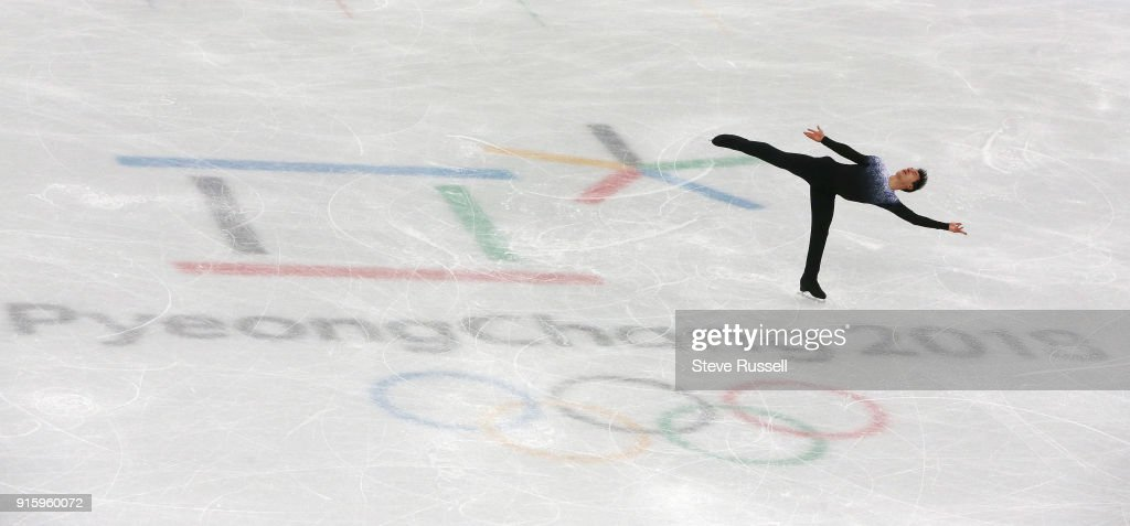in the Men's single skating program in  PyeongChang 2018 Winter Olympics Figure Skating  team event : News Photo