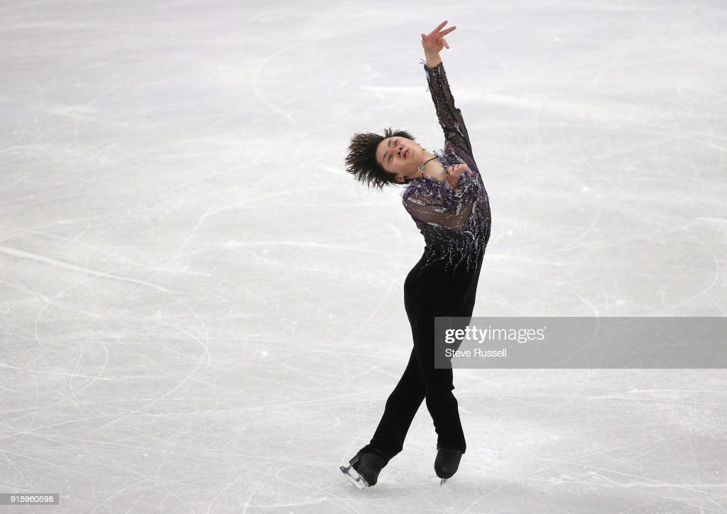 GANGNEUNG, Pyeongchang- FEBRUARY 8 - Shoma Uno of Japan recorded the highest score in the Men's single skating program in PyeongChang 2018 Winter Olympics Figure Skating team event at the Gangneung Ice Arena at the 2018 Pyeongchang Winter Olympics in Gangneung in Pyeongchang in South Korea. February 8, 2018.
