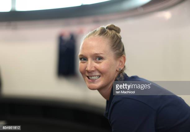 PyeongChang Winter Olympic hopeful Amanda Lightfoot poses for photographs at The Orium sports complex on August 18 2017 in Edinburgh Scotland